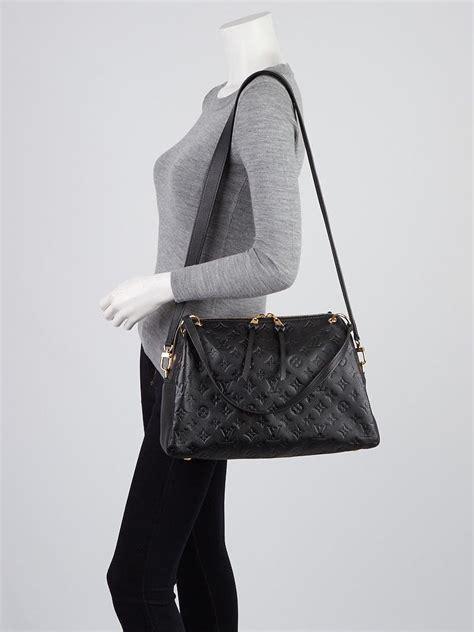 louis vuitton black monogram empreinte leather ponthieu pm bag yoogis closet