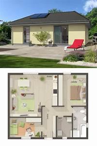 Haus Bauen Ideen Grundriss : bungalow haus mit walmdach architektur grundriss ~ Orissabook.com Haus und Dekorationen