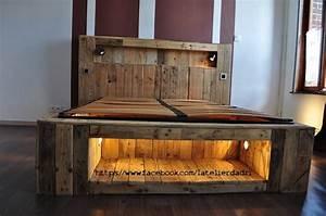 Lit Maison Bois : lit en palette en bois meilleures images d 39 inspiration ~ Premium-room.com Idées de Décoration