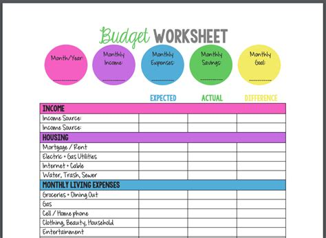 budget templates tools spreadsheets pdfs