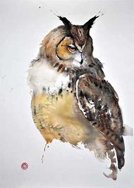 Watercolor Owl