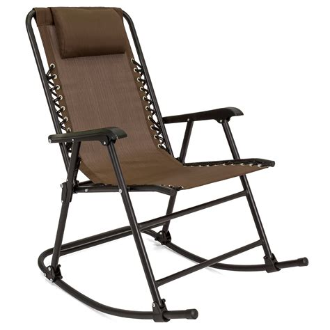 Best Patio Chairs by Best Choice Products Foldable Zero Gravity Rocking Patio