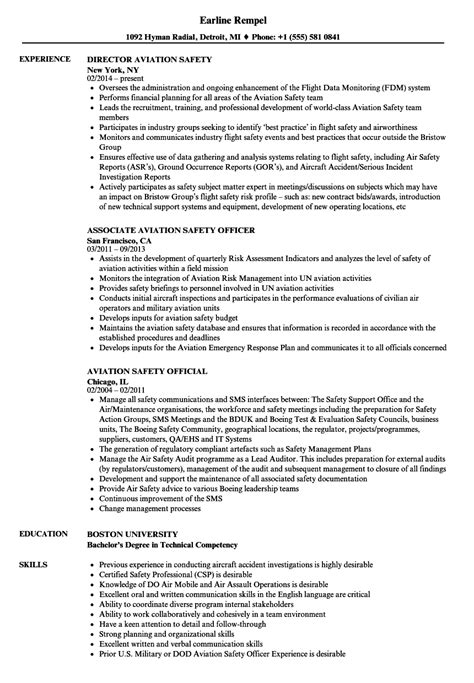 occupational health and safety specialist sle resume