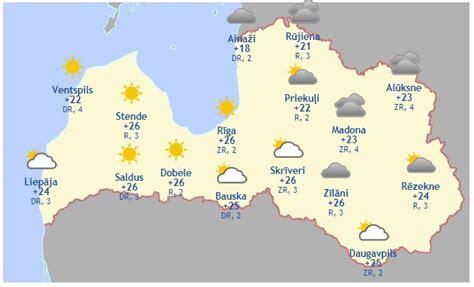 Laika prognoze šodienai, 10. jūnijam - Aktuāli - epadomi.lv