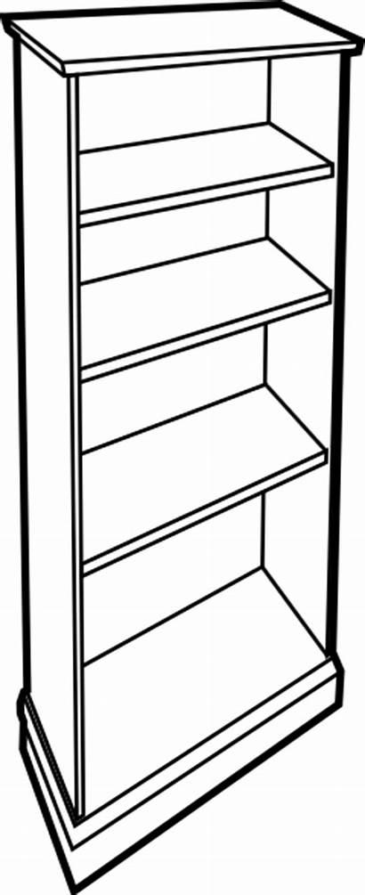 Empty Clipart Bookcase Bookshelf Shelf Clip Cupboard