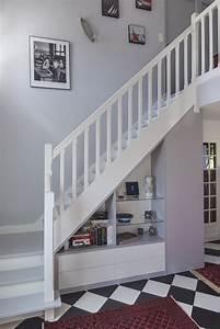 Placard Escalier : placard sous escalier sur mesure paris nantes vannes lorient meuble sous escalier fun ~ Carolinahurricanesstore.com Idées de Décoration