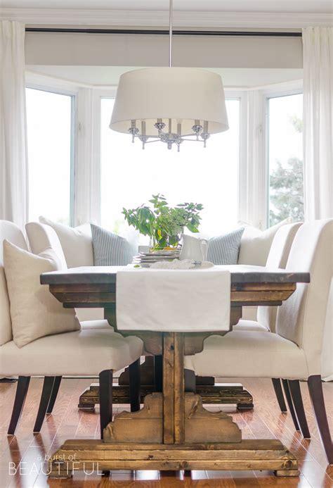 diy farmhouse dining table plans  burst  beautiful