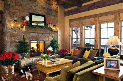 cabin themed decor cozy decoration ideas for your living rooms 1908