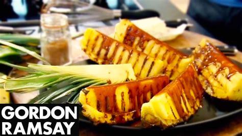 gordon ramsay cuisine cool griddled pineapple with spiced caramel gordon ramsay