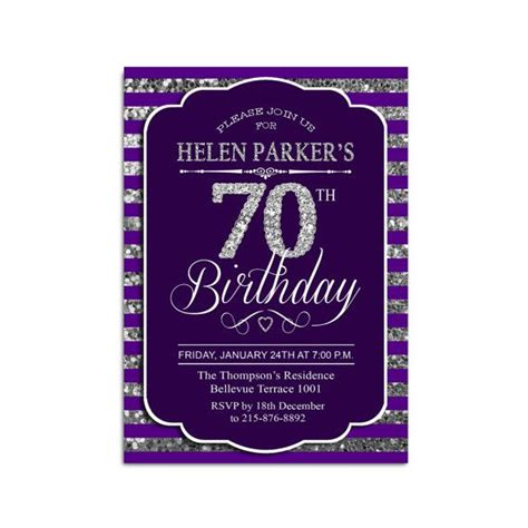 25+ Best Ideas About 70th Birthday Invitations On