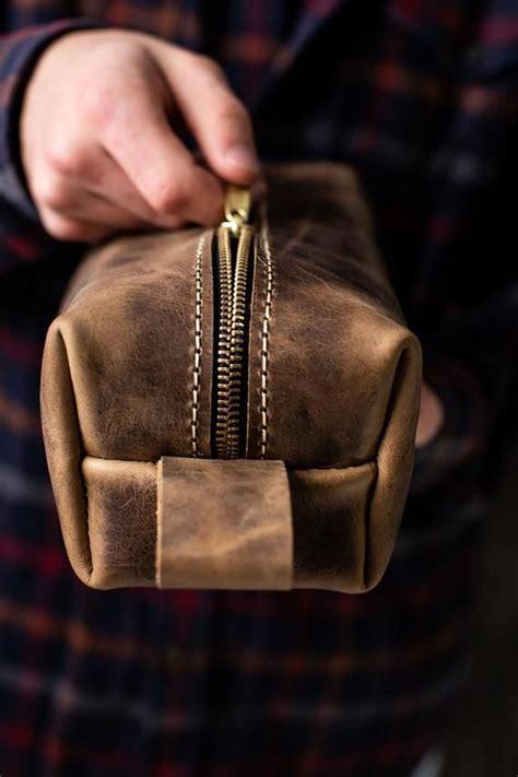 leather dopp kit bag leather toiletry bag groomsmen gifts  men monogram mens toiletry bag