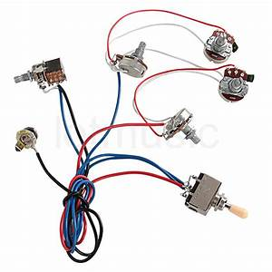 Electric Guitar Wiring Harness Kit 2v2t Pot Jack 3 Way