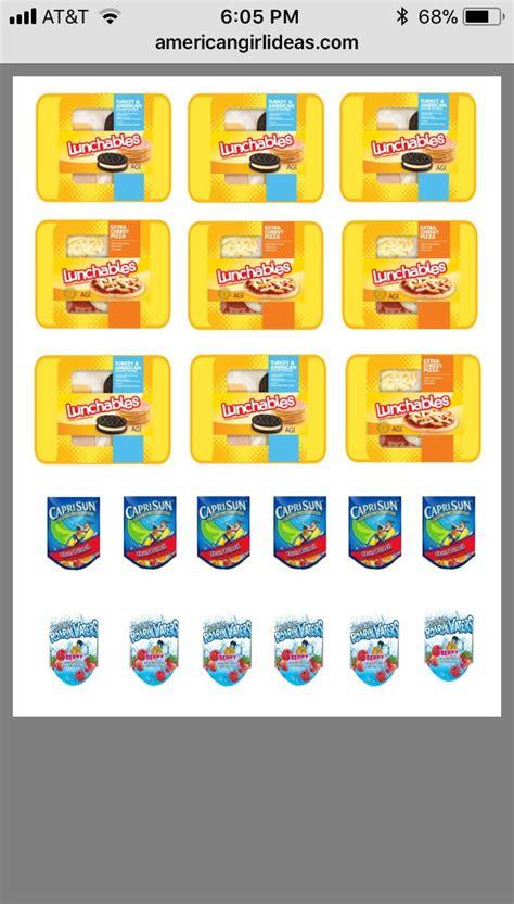 pin  leighapril  american girl printables cereal