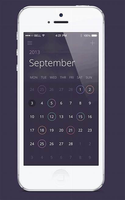 Calendar App Mobile Inspiration Application Simple Designbeep