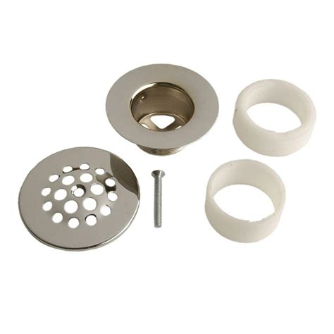 home depot bathtub stopper danco chrome tub drain strainer style 88795 the home depot