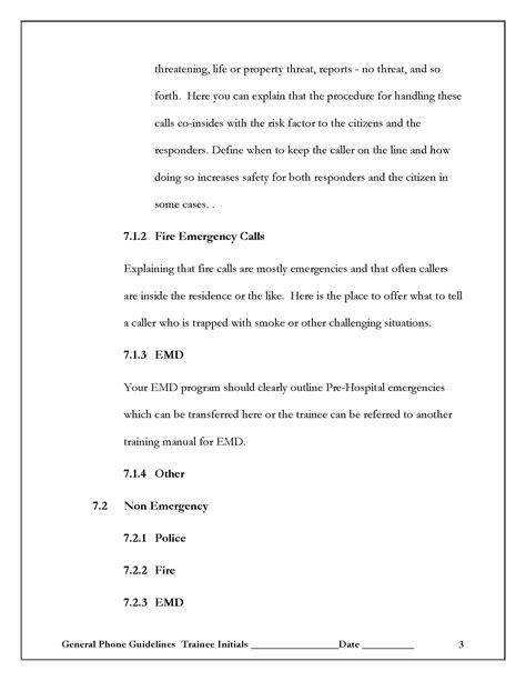 help desk training manual template create a 911 training manual template 911trainer com