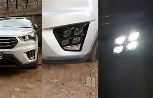 Auto Led Daytime Running Lamp Drl Lights For Hyundai Ix25