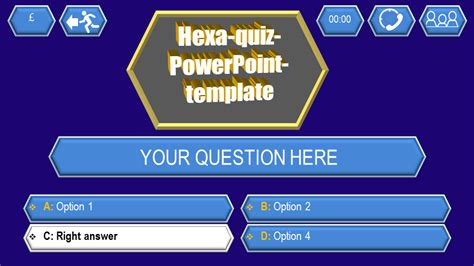 Powerpoint Trivia Template by Quiz Template Hexa Ppt Themes
