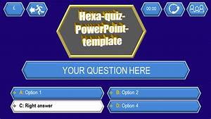 quiz template hexa download ppt themes With powerpoint trivia game template