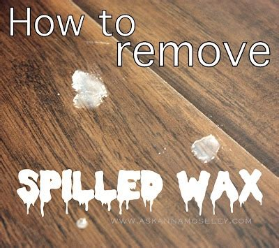 how to get wax of floor simple trick for getting rid of spilled wax works on