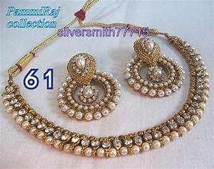 Designer Bollywood Gold Plated Pearl Jewelry Indian Kundan ...