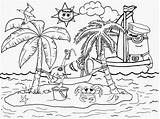 Coloring Pages Minion Tropical Island Printable Beach Holiday Landscape Drawing Minions Fun Resort Costume Paradise Seaside Activities Despicable Simple Ages sketch template
