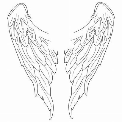 Wings Angel Drawing Simple Cliparts Clipart Computer