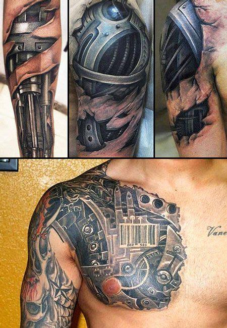 incredible terminator inspired tattoos  kinds
