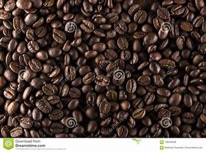Roasted Coffee Beans On Wood Texture Stock Photo - Image ...
