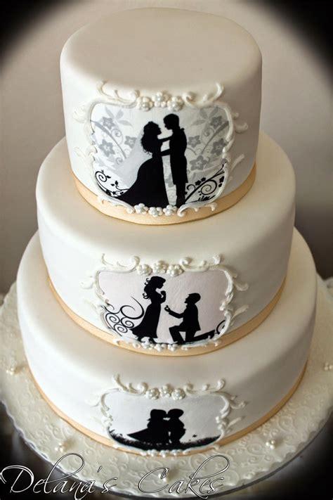 delanas cakes silhouette wedding cake