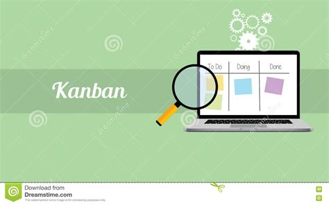kanban cartoons illustrations vector stock images