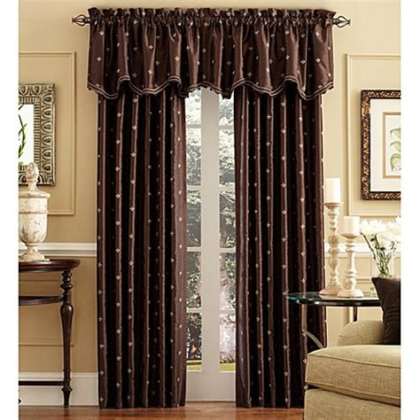 bed bath and beyond curtains celeste scalloped window curtain valance bed bath beyond