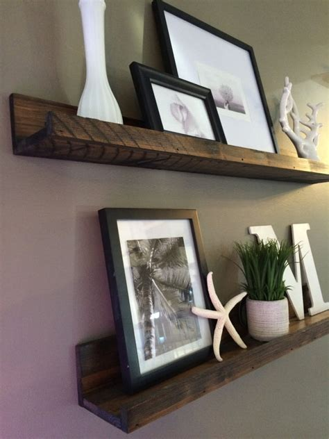 gallery ledge shelves shelf rustic wooden picture ledge shelf gallery wall by lovemade14