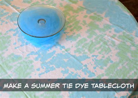 Make A Tie Dye Tablecloth Shibori Style Dye Technique