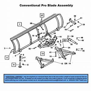 Pro Plow - Conventional - Part Diagrams - Western - Blade Components