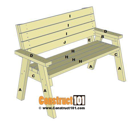 bench plans step  step material list