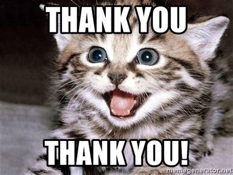 Thank You Cat Meme - thank you thank you uber cute cat meme generator