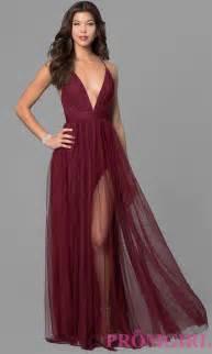 designer dresses prom dress with v neckline promgirl