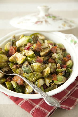 brussel sprouts  hot bacon vinaigrette recipe paula deen