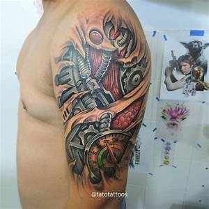 Shoulder Biomechanical Tattoo | Best Tattoo Ideas Gallery