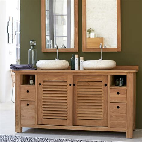 chambre en teck meuble pour salle de bain en teck meubles coline duo sous