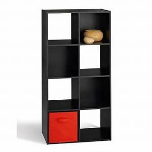 Etagere Cube Noir : etag re cube en bois h121cm 8 niches compo noir achat prix fnac ~ Teatrodelosmanantiales.com Idées de Décoration