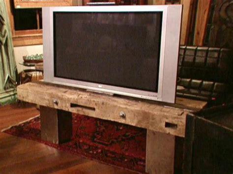 flat screen tv stand video diy