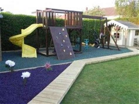 rubber chipping rubber chippings in play area and edging bordered with grass kids pinterest plays blog