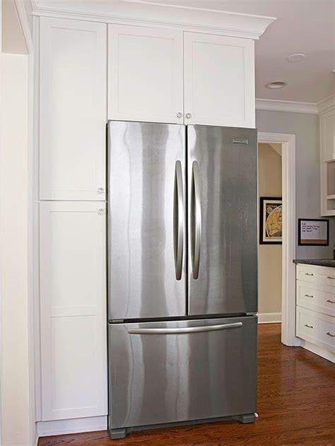 kitchen refrigerator cabinet proper placement before the kitchen s remodel the 2487
