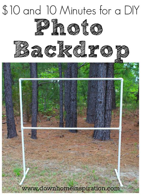 Diy Photo Backdrop by 10 And 10 Minutes For A Diy Photo Backdrop Home