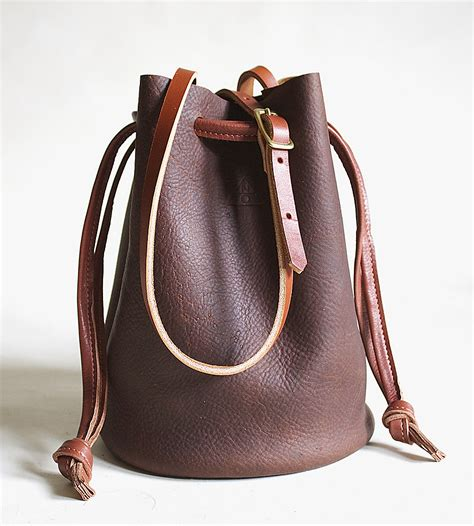 Ana Leather Bucket Bag