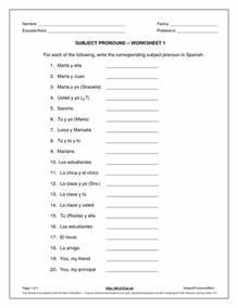 17 Best Images of College Spanish Worksheets - Basic