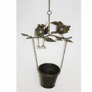 Blumentopf Zum Aufhängen : gartendeko tier auf bertopf metall bepflanzbar blumentopf ~ Michelbontemps.com Haus und Dekorationen
