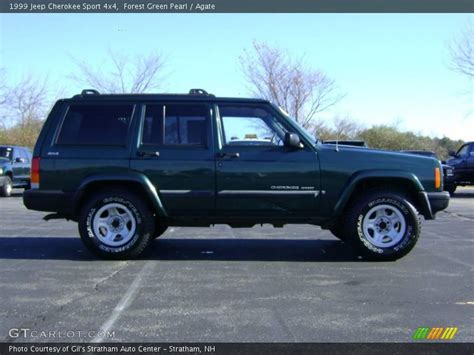 jeep cherokee sport green 1999 jeep cherokee sport 4x4 in forest green pearl photo